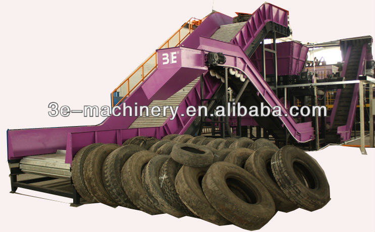 Good Quality of 3E's Waste tyre recycling plant/Waste tire recycling machine, get CE Marking