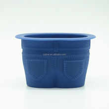 BPA Free Cupcake Molds Reusable Silicone Baking Cups Novelty Jean Shaped Silicone Bake Cups for Cupcake
