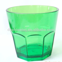 9oz elegant unbreakable stemless plastic water cup