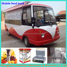 Gas heated variable function hamburgers cart food with water sink