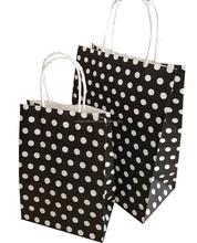 one color print black dot design kraft paper bag