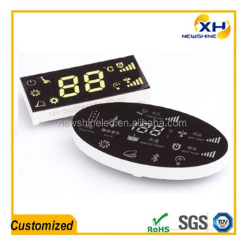 Customized LED digital 7 segment display for toilet cover household appliance display panel