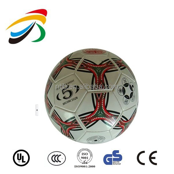 Best machine stitched promo size 5 customized logo printing soccer ball