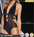 2017 Women's sexy special design nylon spandex with mesh one piece swimsuits.