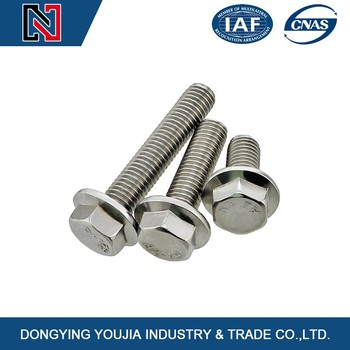 China made stainless steel hex flange head bolt