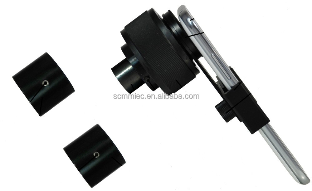 Adjustable microscope camera mount for tablet phone