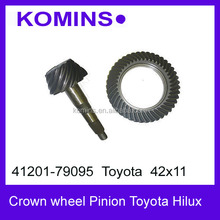 Ratio # 42x11 41201-79095 Front and Rear Differential Crown wheel pinion for Toyota Hilux, Ring and Pinion