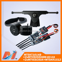 Maytech (6pcs) vesc 50a for skateboard + remote with receiver + 90mm 36v brushless hub motor and truck