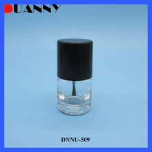 Round Empty Clear Glass Empty Large 8-10Ml Nail Polish Bottles With Brush And Cap