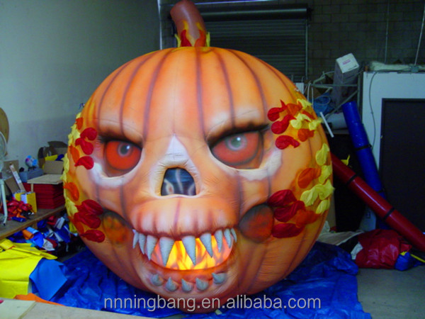 NB With LED Scary inflatable Halloween Pumpkin for festival