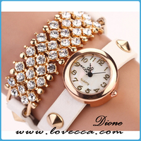 Hot Selling Diamond-Shaped Surface Fashion Women Watch/Leather Watch lady watch wholesale