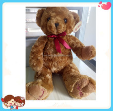 wholesale cheap inventory good quality rose plush material teddy bear soft stuffed toy for kids stock goods