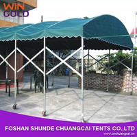 Canvas carport green fodable carport with wheels for sale