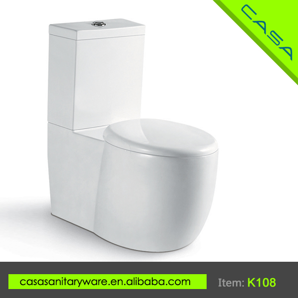 Cleanly insulated standard two piece ceramic toilet wc sizes