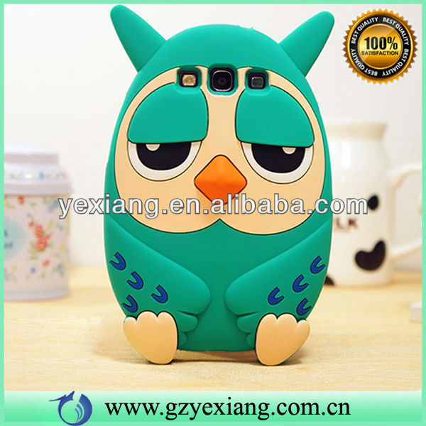 Wholesale Cute Animal 3D Silicone Case For Samsung Galaxy S3 New Arrival