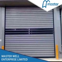 High-density polyester low cost fast rolling door