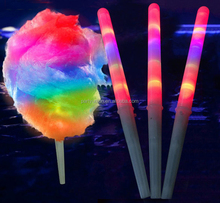 Hot Sale Concert Party LED plastic Cotton Candy glow stick for party led cheer stick