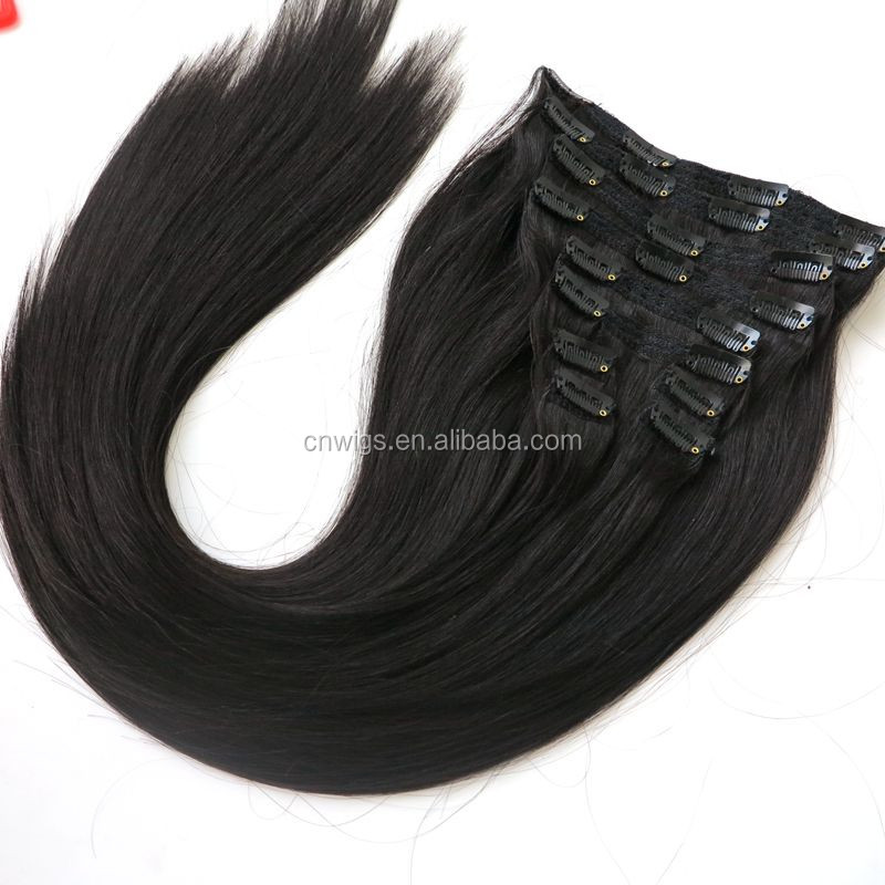 "Luxury 120g 160g 260g 280g 300g 320g 22"" 24"" Double Drawn Thickness Lace Clip in Hair Remy Clip in Hair Extensions 220 grams"