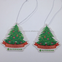 Promotional cheap car hanging paper air freshener card with customized logo printed