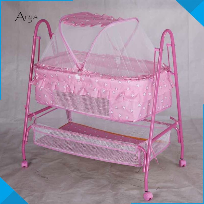 portable baby changer folding bed quality vintage style baby mini crib sale factory wholesale baby crib with stand mosquito
