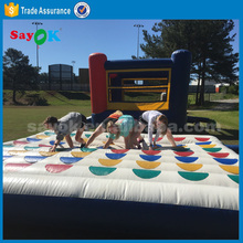 adult giant inflatable interactive games /inflatable twister game/inflatable mattress for sale