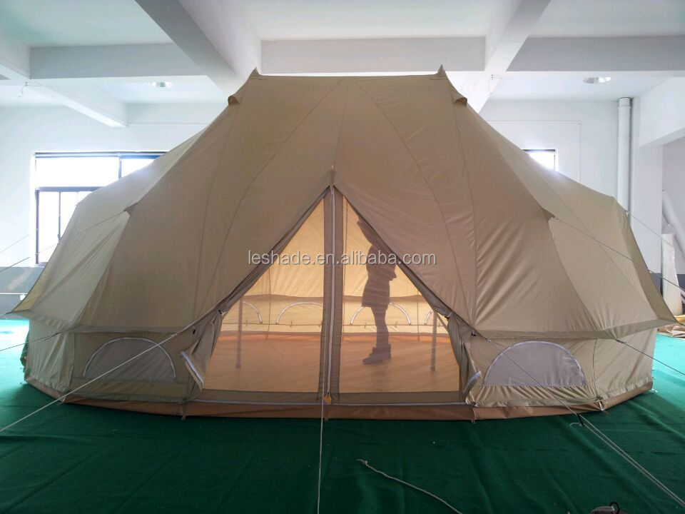 Leshade Tent Factory Canvas Emperor Bell Tent With Double Poles