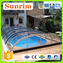 Custom Any Color Size Polycarbonate roof Cover Retractable Swimming Pool Cover