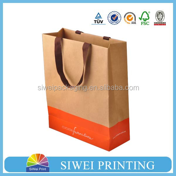 Manufacturers Cheap Wholsale Recycle Craft Brown Paper Kraft Bag/Packaging Kraft Paper Bag