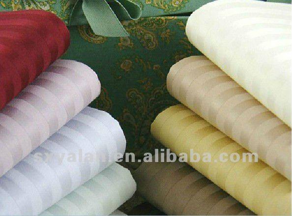 100 cotton stripe fabric for hotel bedding sets