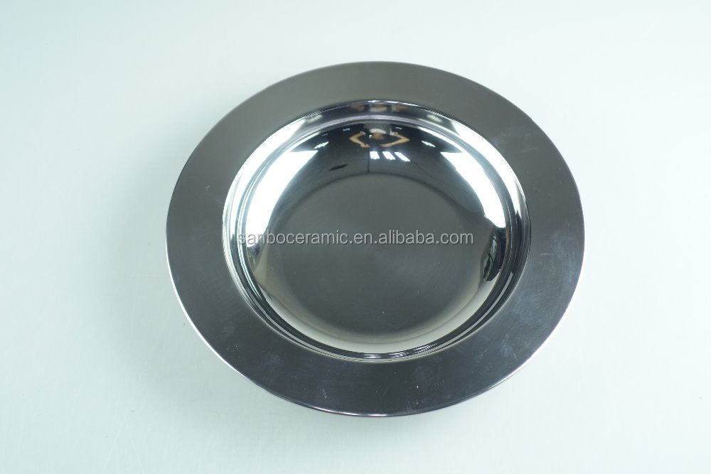 Round tray Metal food tray Stainless steel buffet trays Of various sizes