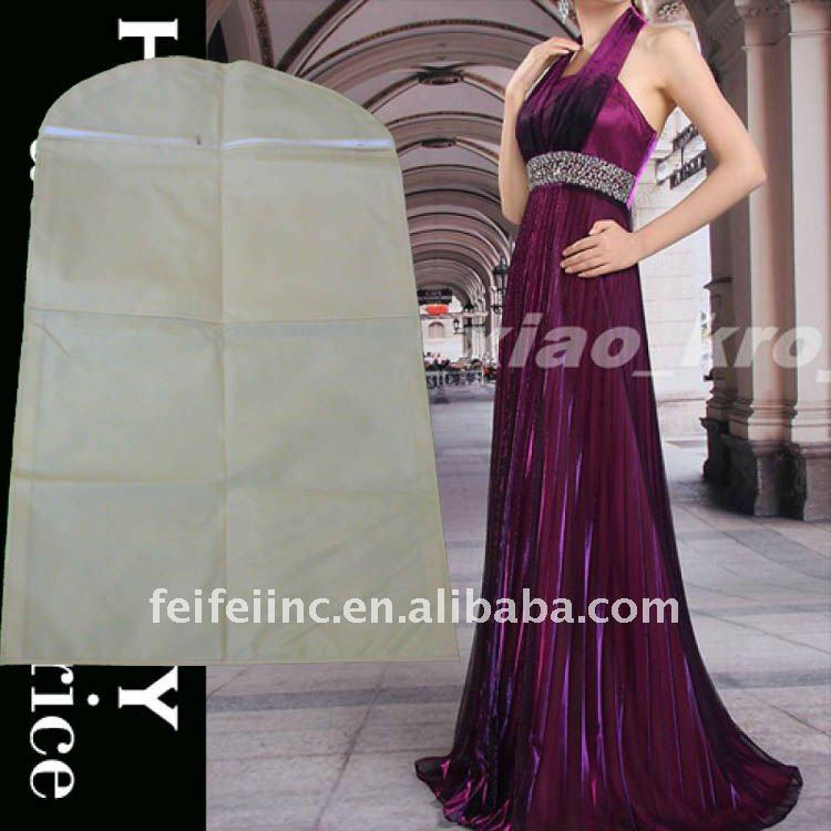 Elegant non woven fabric dress bags/ wedding dress cover