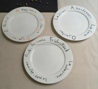 creative plain ceramic plates steak plate 8 inch