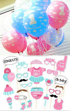 2017 Hottest Newborn photo prop with 10PCS mixed colors one baby birthday Balloons for party theme supplier