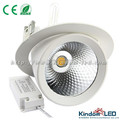 New design 30W LED recessed light, COB LED Trunk Downlight