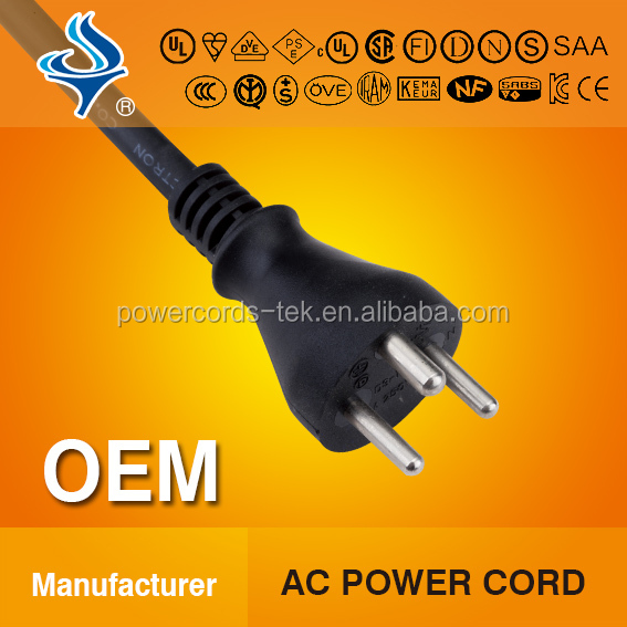 Danish D 3PINS POWER CABLE WITH PLUG D APPROVED