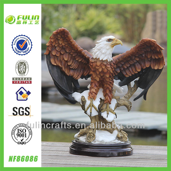 Tabletop Resin Eagle Sculptures