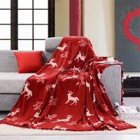 100% polyester fleece plush silk screen print blanket