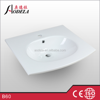 B60 600x525x160mm Bathroom glass wash sink basin