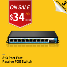 High level metal housing 8 port passive poe injector poe 12V switch