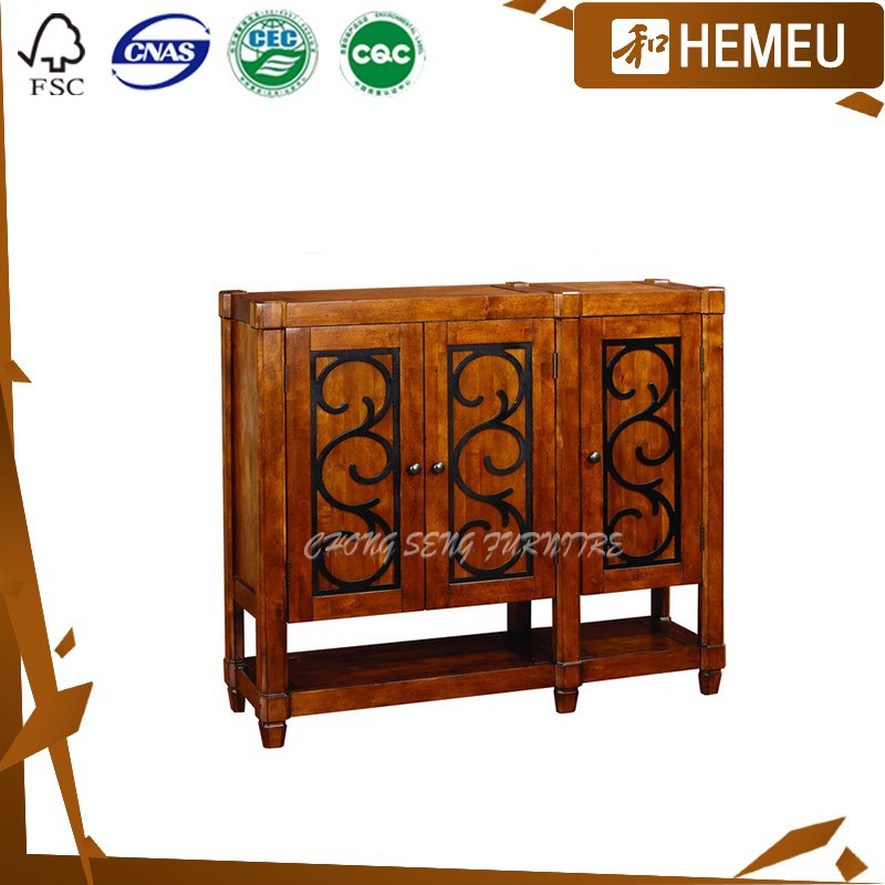 SC3003 - Storage humanize design with iron wooden shoe cabinet