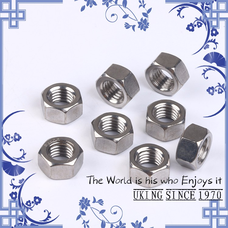 Factory direct-stainless steel 304 DIN934 M6 hex nut