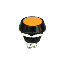 Momentary 2A/36V DC Push orange button switch IP65