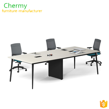 Popular 6-people office furniture rectangle customized conference table specification