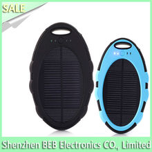 5000mah waterproof solar charger for mobile phone on sale