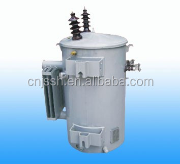 10kva single phase pole mounted oil immersed distribution transformer