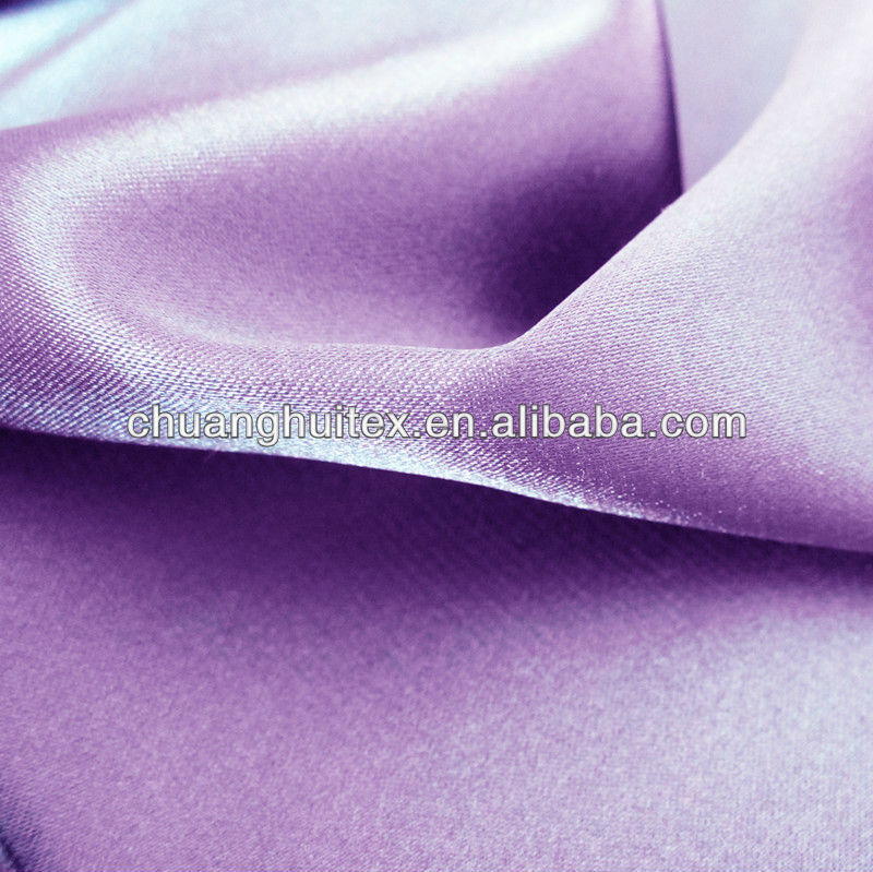 100% polyester shining spandex silk satin fabric for lady dresses