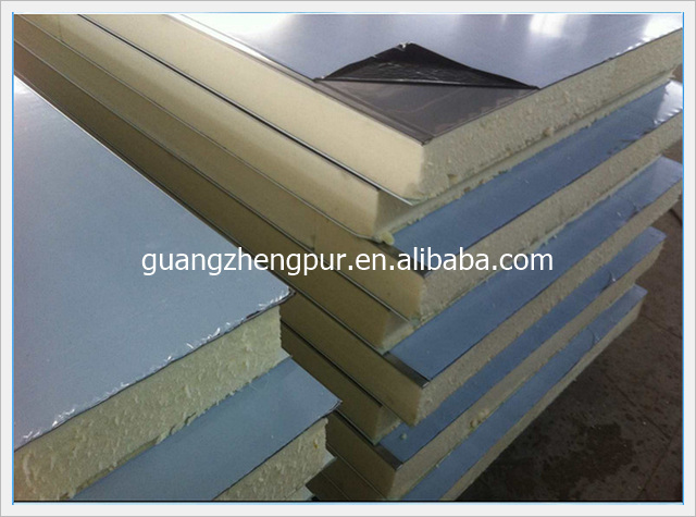 Thermal insulation Polyurethane Sandwich wall Panels for fresh keeping cold room