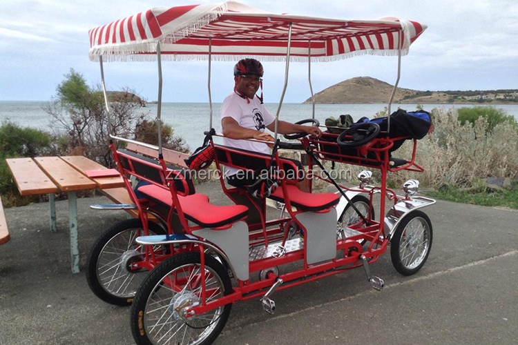 Tandem Bicycle Four Wheel Surrey Bike With Canopy Buy