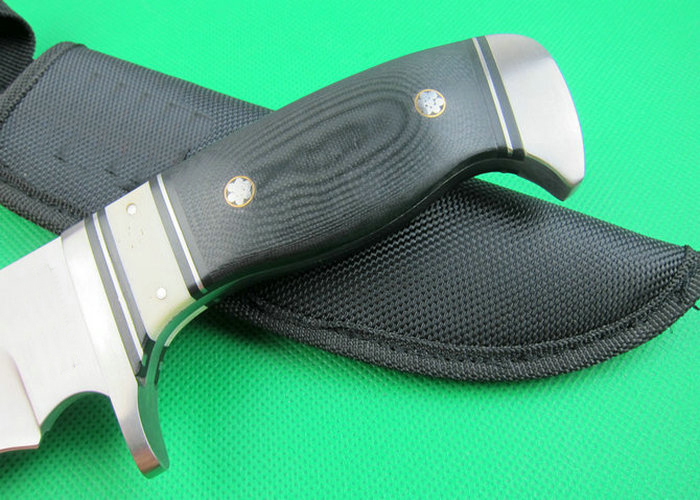 OEM tactical survival knives camping fixed blade knife rescue tool hand 7Cr17Mov blade micarta handle 1626