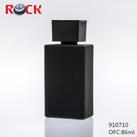 70ml pure black manufacture recycled glass perfume bottles hot sale